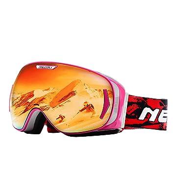 masque de ski femme rose