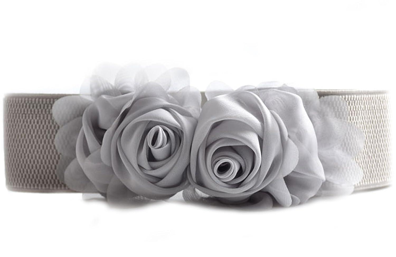 ancho dise/ño floral para mujer Cintur/ón el/ástico Medeshe para bodas
