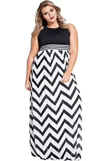 75e878f1574 SunShine Plus Size Dress Blue Halter Neck Zigzag Floor Length Curvy Dress