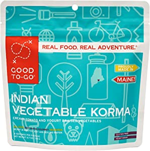 GOOD TO-GO Indian Vegetable Korma | Dehydrated Backpacking and Camping Food | Lightweight | Easy to Prepare