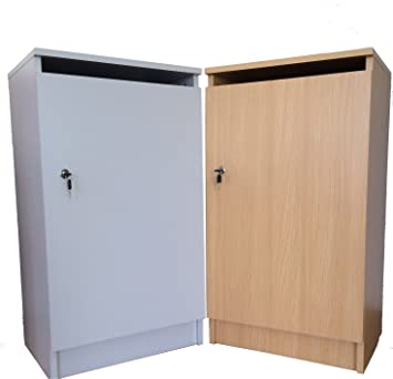 Confidential Waste Cabinet With Lock And Paper Slot + Free Collection Sack    (Burnham Beech