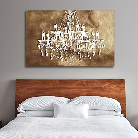 Amazon copper chic chandelier wall decoration art decorpiece on copper chic chandelier wall decoration art decorpiece on 24quotx36quot canvas stretched over 15quot aloadofball Gallery