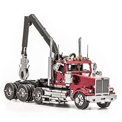 Fascinations Metal Earth Western Star 4900SF Log Truck 3D Metal Model Kit: Toys & Games