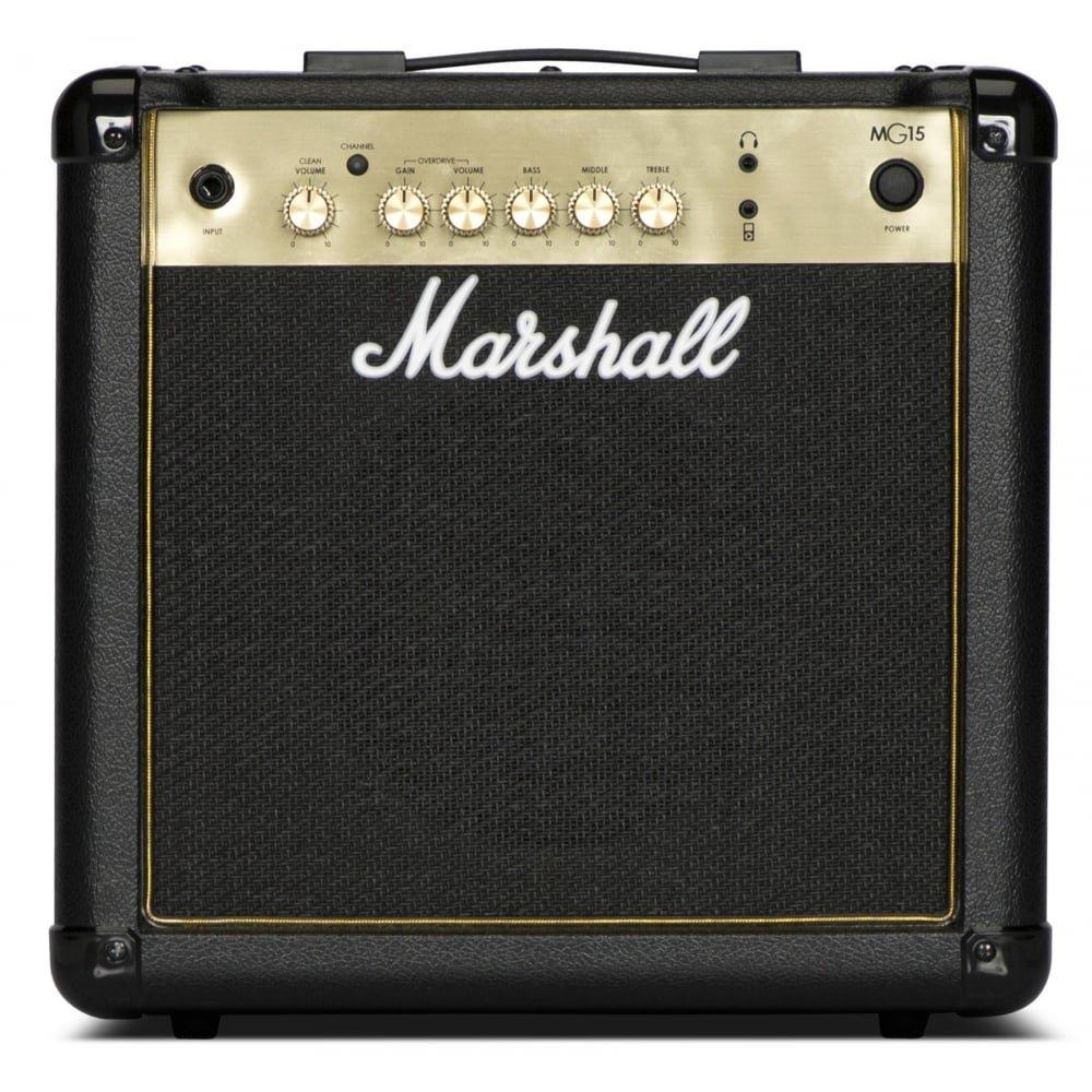 Marshall mg15g negro y dorado AMPLIFICADOR COMBO: Amazon.es: Instrumentos musicales