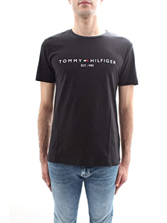 d965697b Tommy Hilfiger Men's Tommy Logo Tee T-Shirt: Amazon.co.uk: Clothing
