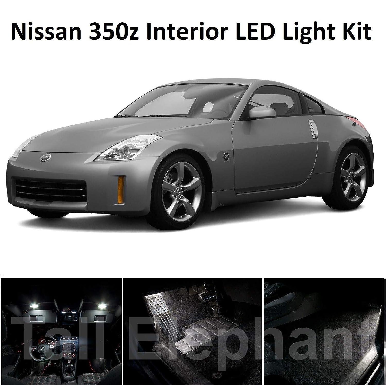 Tall Elephant 350Z 2002 2009 Kit de mise /à niveau LED pour int/érieur Blanc