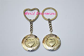 Brother & Sister Locket llavero ~ camafeo Best Friends ...