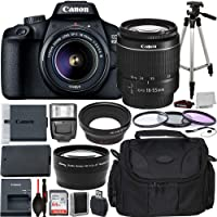 Canon EOS 4000D DSLR Camera with EF-S 18-55mm f/3.5-5.6 III Lens Advanced Bundle - Includes: Extended Life LPE10…