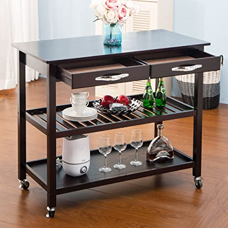 Amazon.com - Harper & Bright Designs Kitchen Island Cart on ...