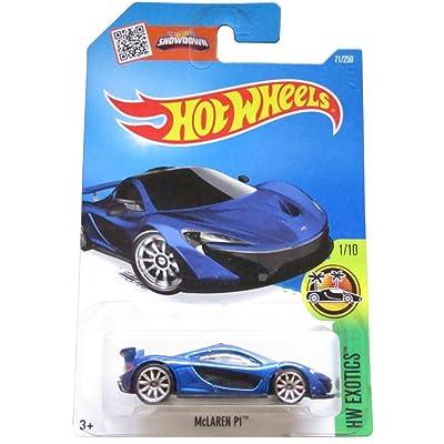 Hot Wheels 2016 HW Exotics McLaren P1 71/250, Blue: Toys & Games
