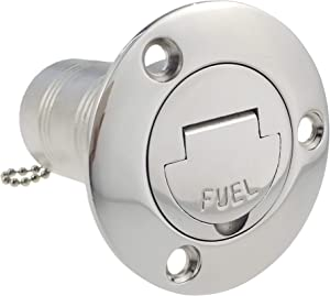 """NRC&XRC 1-1/2""""(38mm) Boat Fuel Deck Fill/Filler with Keyless Cap 1-1/2"""" Marine 316 Stainless Steel Hardware for Boat Yacht Caravan"""