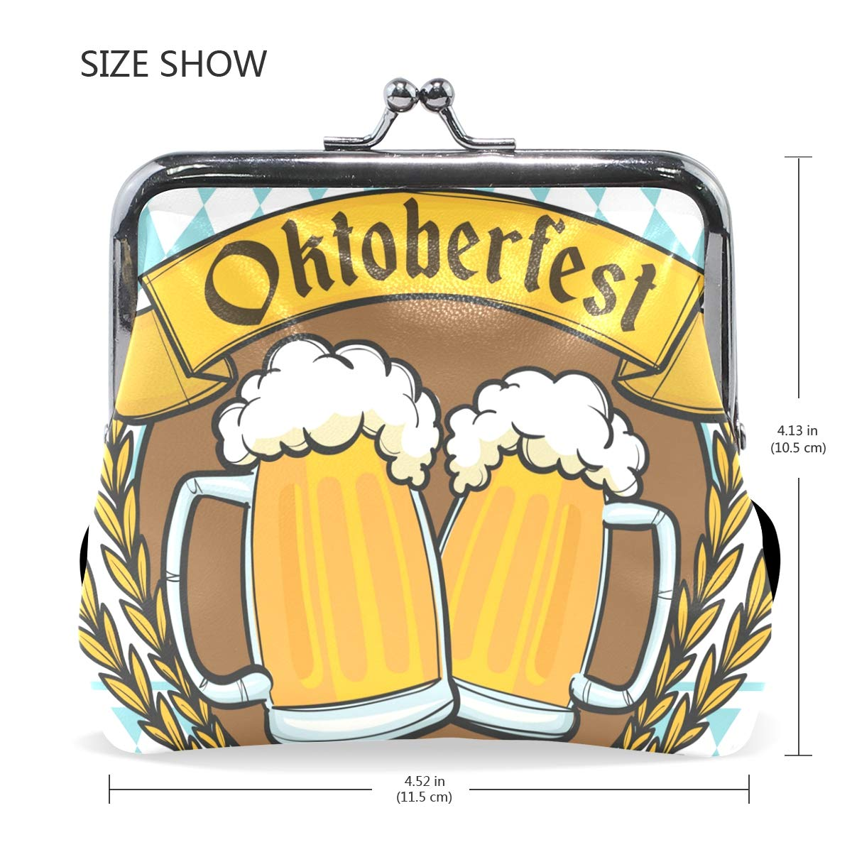 LALATOP Oktoberfest Insignia Beers Womens Coin Pouch Purse wallet Card Holder Clutch Handbag