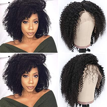 Sibaile Hair Afro Kinky Curly Lace Front