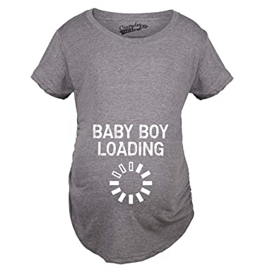 6d29c29b143d9 Crazy Dog T-Shirts Maternity Baby Boy Loading Funny Nerdy Pregnancy  Announcement T Shirt (