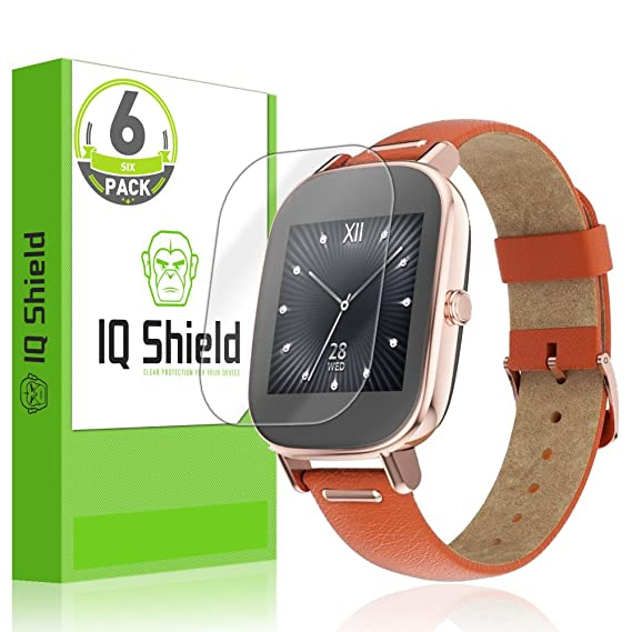 Asus Zenwatch 2 Screen Protector, IQ Shield LiQuidSkin Full Coverage Screen Protector for Asus Zenwatch 2 (45mm 6-Pack) HD Clear Anti-Bubble Film