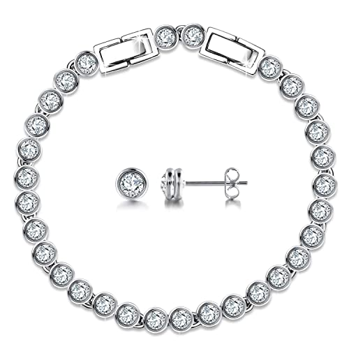 GEORGE SMITH Valentines Gifts For Girlfriend Classic Women Jewelry Set 925 Sterling Silver