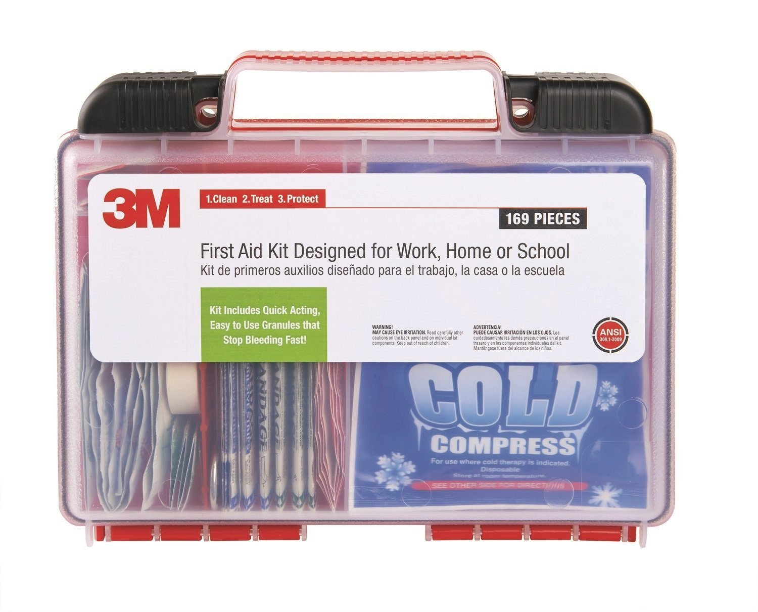 (3M 94169-80025) (3M ID Number 70006931581) 3M(TM) First Aid Kit, 94169-80025, 169 pieces, 6/Case [You are purchasing the Min order quantity which is 6 ...