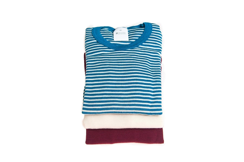 Hocosa of Switzerland Big Kids Organic Wool-Silk Long-Sleeve Underwear Shirt