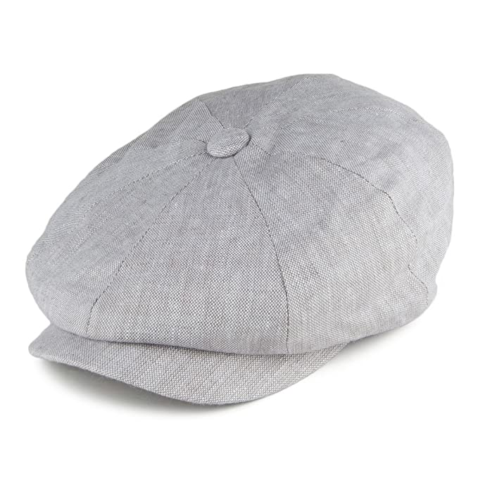 Failsworth Gorra Newsboy Alfie de Lino irlandés Gris Claro: Amazon ...