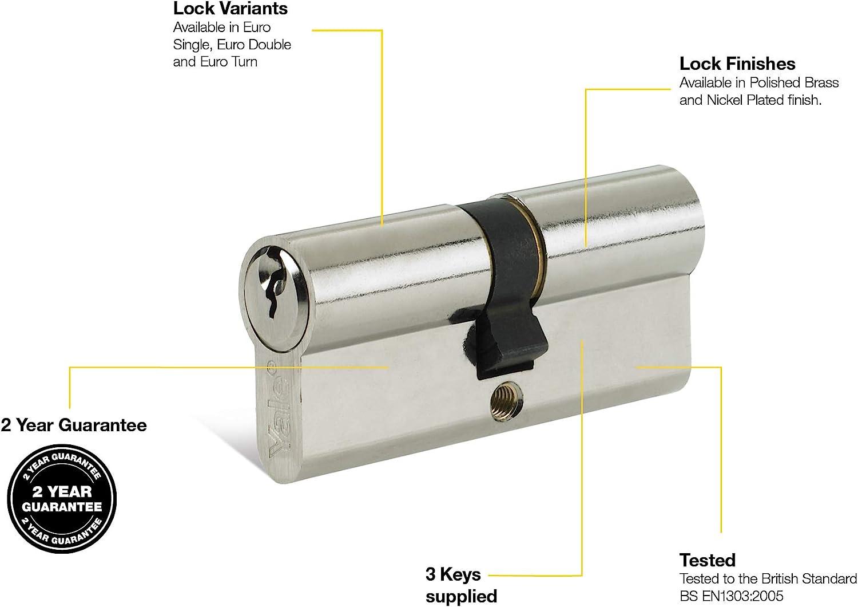Yale p-ed4545-pb 6/Pin Euro doppelt 10 45/ 100/mm