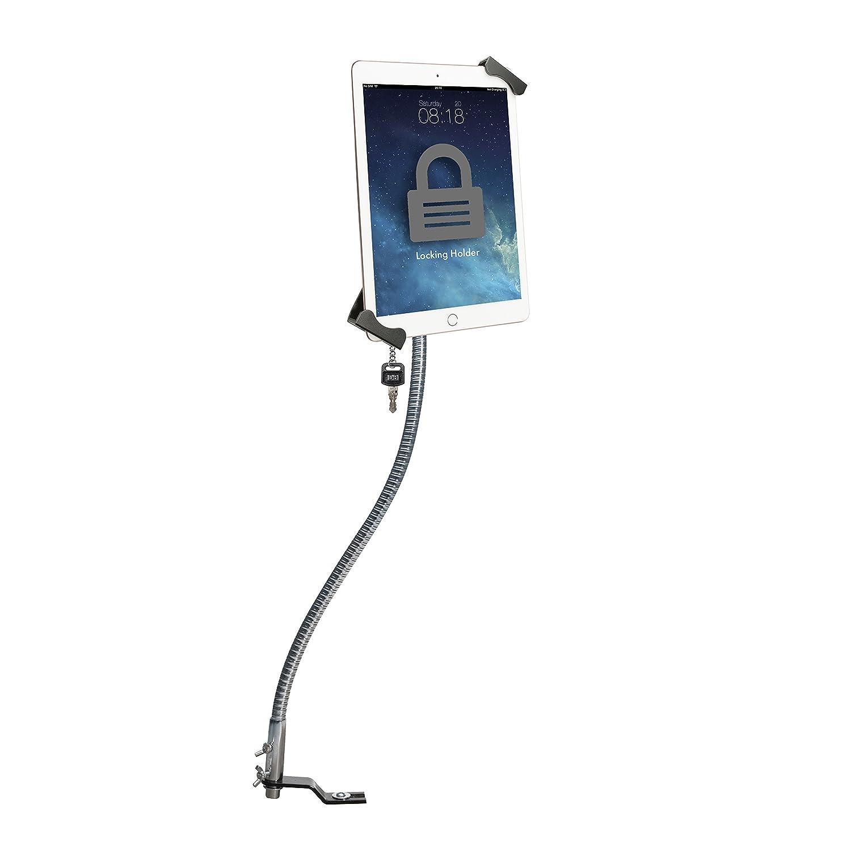 Car Mount, CTA Digital Anti-Theft Tablet Holder, Gooseneck, No-Drill, Seat Rail Mount for Apple iPad 10.2-Inch (7th Gen.)/iPad Mini 5/iPad Air 3/12.9-Inch iPad Pro/iPad 6/Surface Pro/Galaxy Tab & More