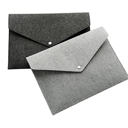 b1490f84cbb0 MyLifeUNIT Felt File Folders of A4 Size, Envelope Folders with Snap Button,  Set of 2