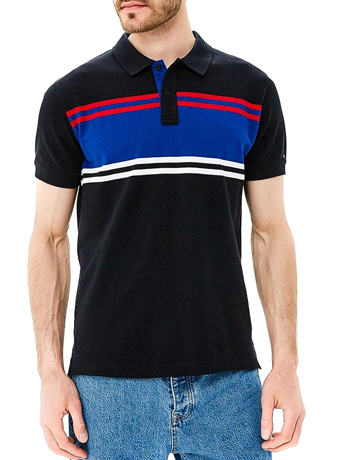 Tommy Hilfiger Polo Abstract XXL Negro: Amazon.es: Ropa y accesorios