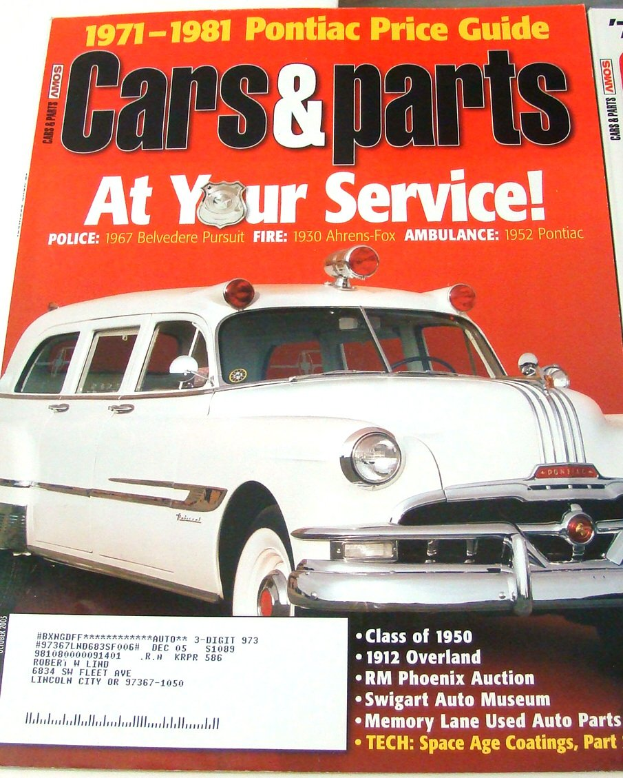 Lot of 11 Cars & Parts Magazines 2005 Individual Issues Classic Cars ...
