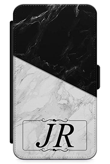dd8d378792 Case Warehouse iPhone 6 Plus Case, Personalised Custom Name Mixed Marble Phone  Case Premium Leather