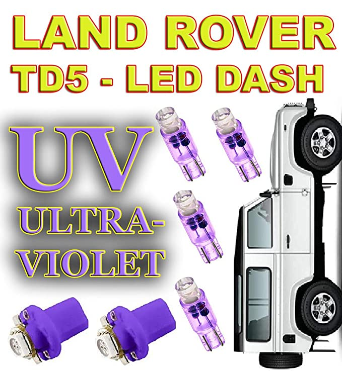 LAND Defender 90//110 TD5 DASHBOARD LED BULB UPGRADE VARIOUS COLOURS White Off Road 4x4 4wd 6 x Dash LED kit White Red Blue