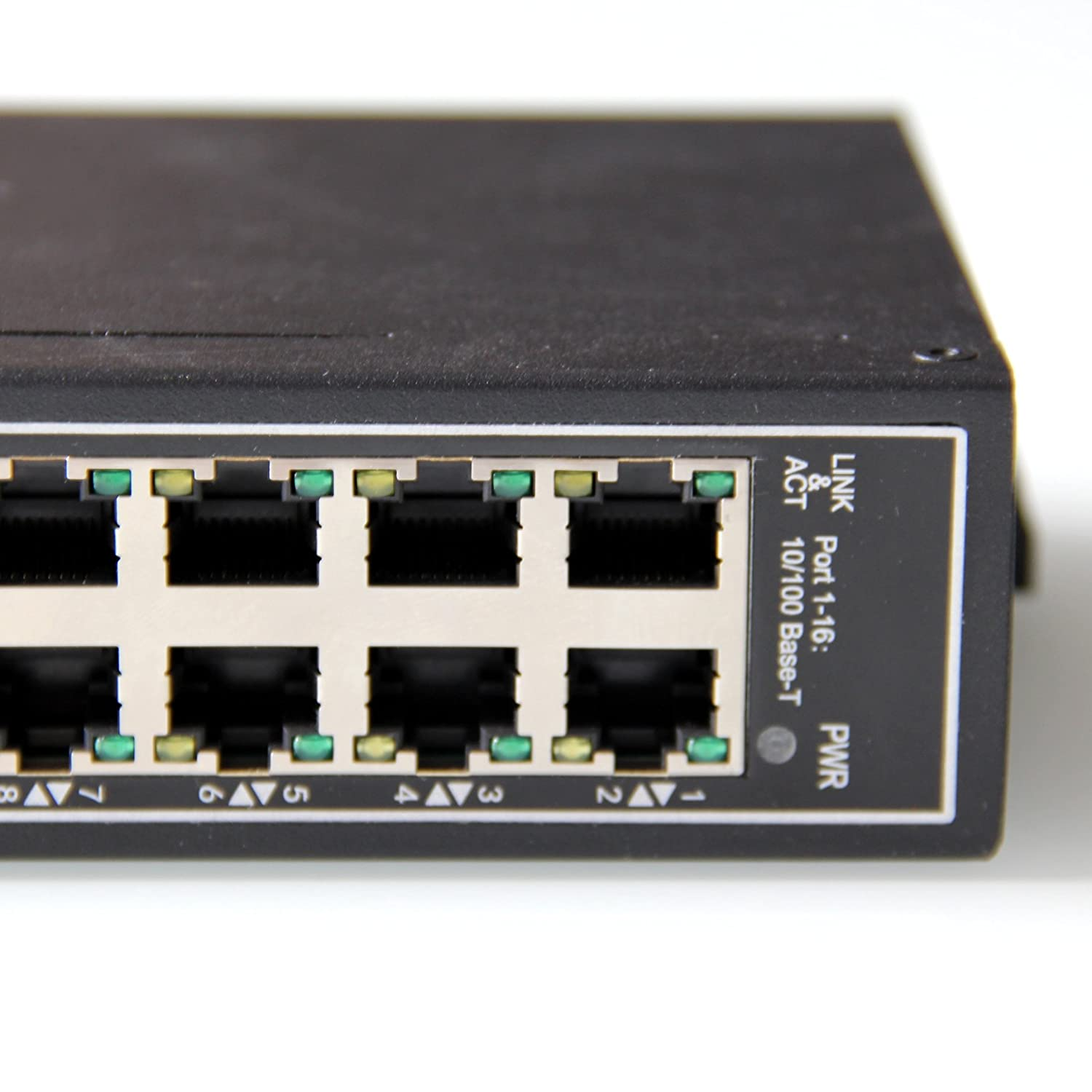 WIWAV WDH-16ET-DC 10//100Mbps Unmanaged 16-Port Industrial Ethernet Switches with DIN Rail//Wall-Mount Fanless,-30℃~75℃