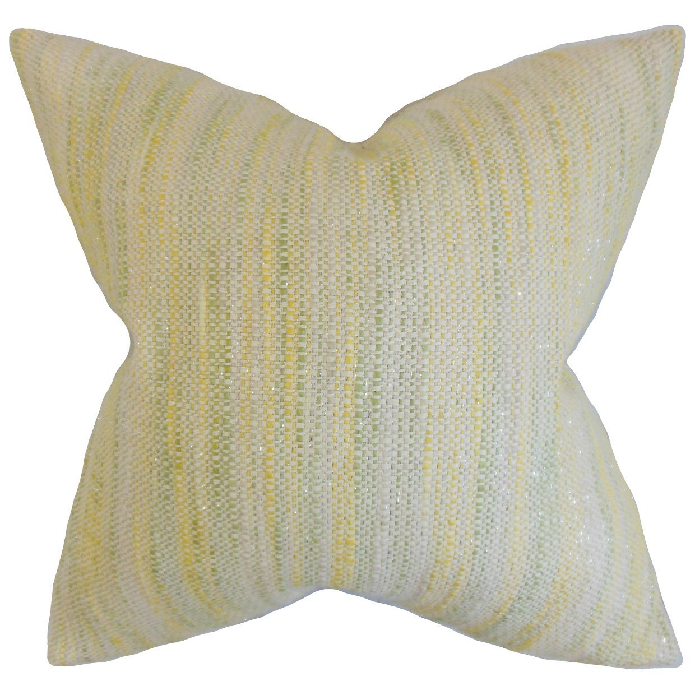 The Pillow Collection Lakota Stripes Bedding Sham Lemon King//20 x 36