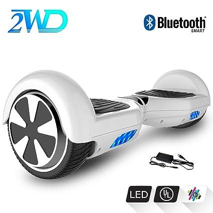 2WD Hoverboard Scooter eléctrico Patinetes eléctricos Self-Balanced Scooter 6.5 Pulgadas Scooter eléctrico CE Certificado con Altavoz Bluetooth ...