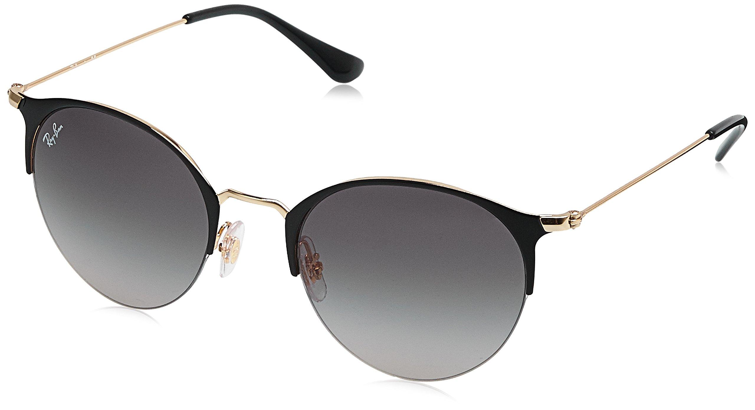 Ray-Ban Metal Unisex Round Sunglasses, Gold Top Shiny Black, 50 mm