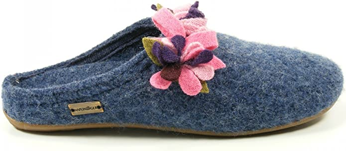 Haflinger Schuhe Damen Hausschuhe Pantoffeln Wolle Everest Floriane 483033