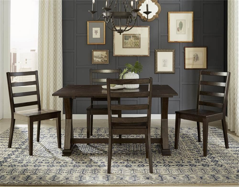 Amazon Com A America Brooklyn Heights Flip Top Dining Table In Dark Warm Gray Tables
