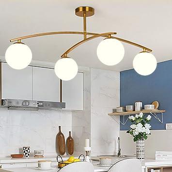 Deckenle Küche amzh nordic glas deckenleuchte galvanik wohnzimmer schlafzimmer