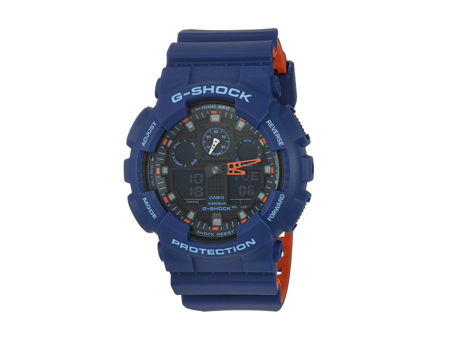 Men's G Shock Quartz Watch with Resin Strap, Multi, 28.8 (Model: GA-100L-2ACR)