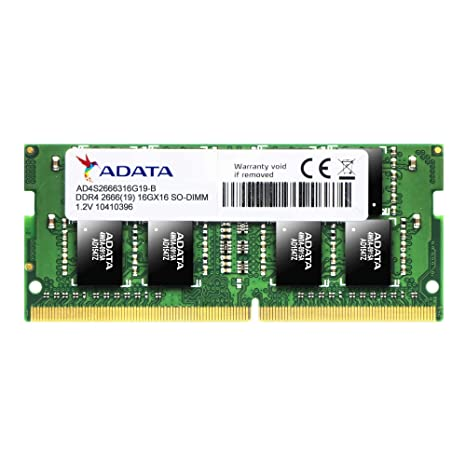 ADATA Premier AD4S2666316G19-R 16GB DDR4 2666MHz 260-pin SODIMM RAM Memory at amazon