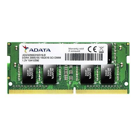 ADATA Premier AD4S2666316G19-R 16GB DDR4 2666MHz 260-pin SODIMM RAM Memory at amazon