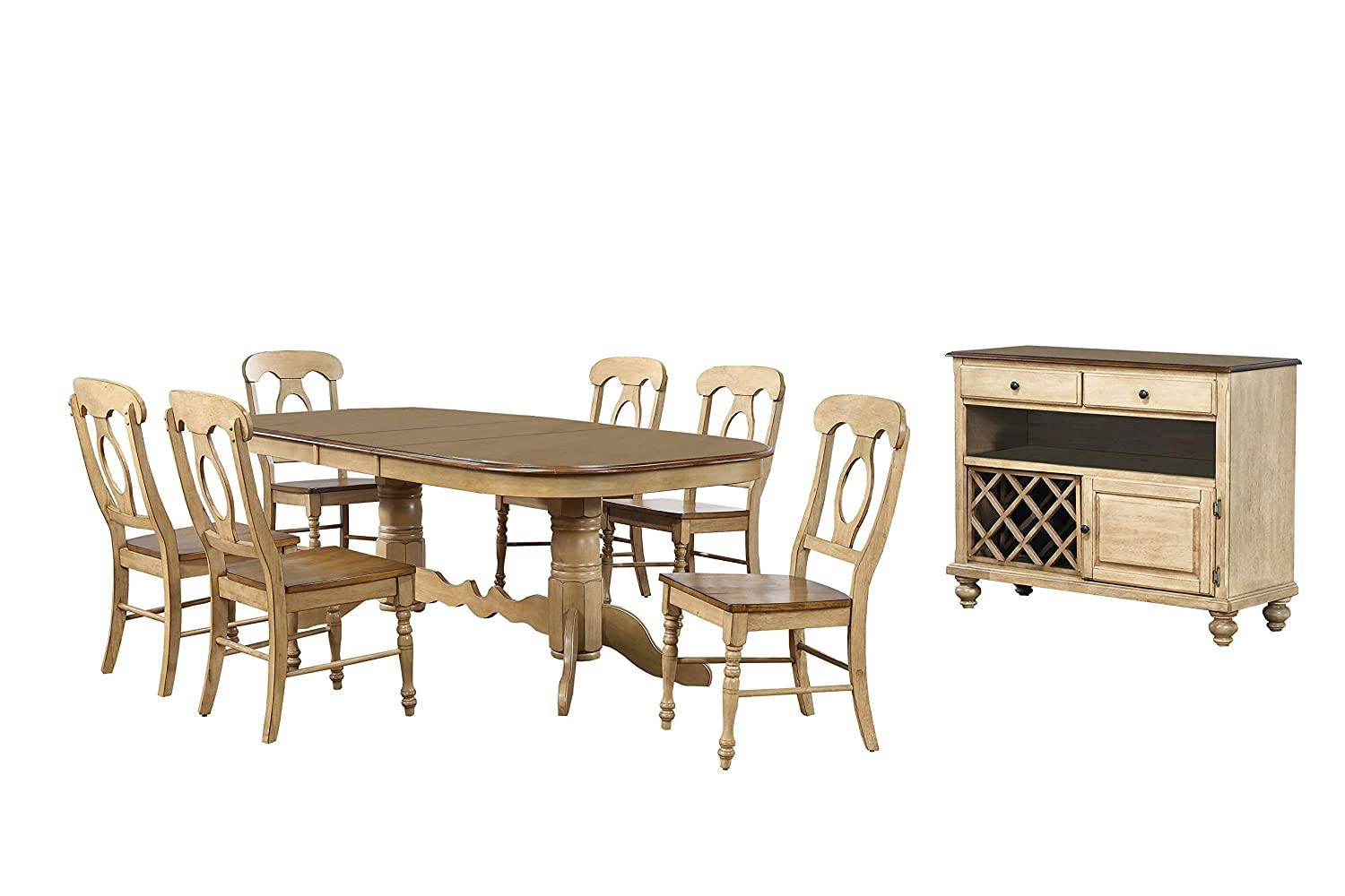 Sunset Trading Brook Dining Table Set, White