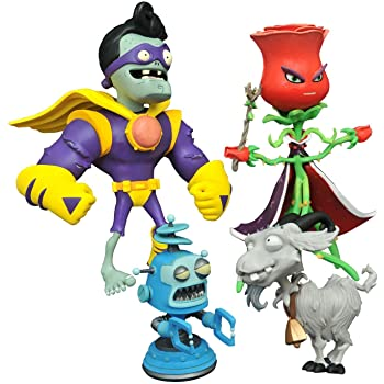Diamond Select Toys Plants vs. Zombies: Rose vs. Captain Brainz Select Action Figure (2 Pack)