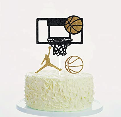 1pcs Kids Birthday Party Baby Shower Wedding Baking Decor Art Door Cake Flags Happy Birthday Basketball Cupcake Cake Toppers Wedding & Anniversary Bands