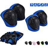 Adicop Kids Knee Pad Elbow Pads Guards for 3-8 Years Old Boys Girls 3 in 1 Kids Protective Gear Set for Skating Cycling Bike Rollerblading Scooter