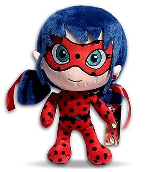 Prodigiosa Ladybug 35cm Peluche Muñeca Las aventuras Marinette Superheroína Miraculous Tamaño Grande