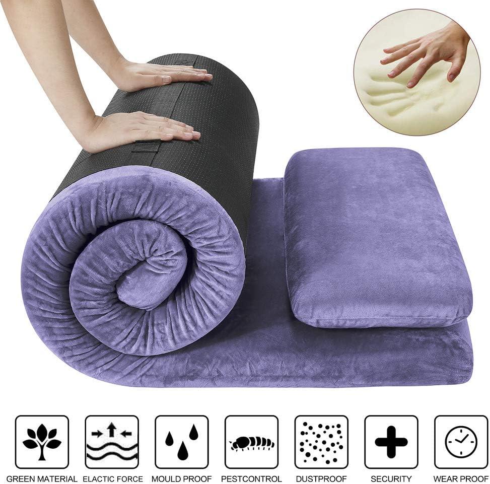 AONESY Memory Foam Camping Roll-Up Floor Mattress