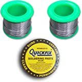 Supreme-Mart Two Rolls Of Rosin Core Solder Wire And 50G Soldering Paste (Flux)