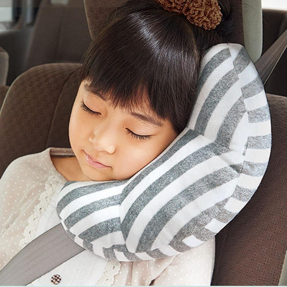 Car Seat Travel Pillow Toddler Seatbelt Pillow Soft Children Toddler Car Seat Headrest Safety Belt Sleeping Pillow Safety Strap Covers iShine