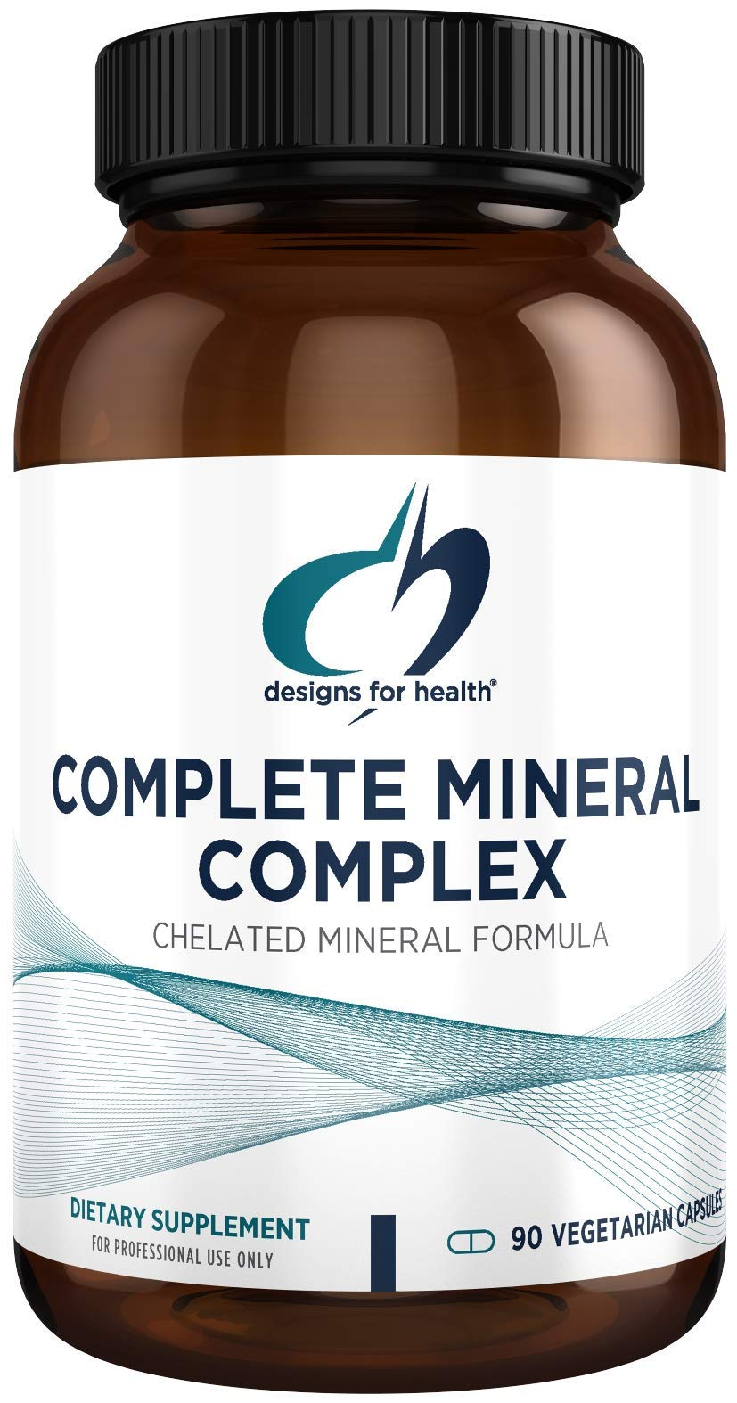 Designs for Health Complete Mineral Complex - Iron Free Multi Mineral Supplement, Chelated Minerals for Superior Absorption - Magnesium Malate, Zinc, Chromium, Selenium + More - Non-GMO (90 Capsules)