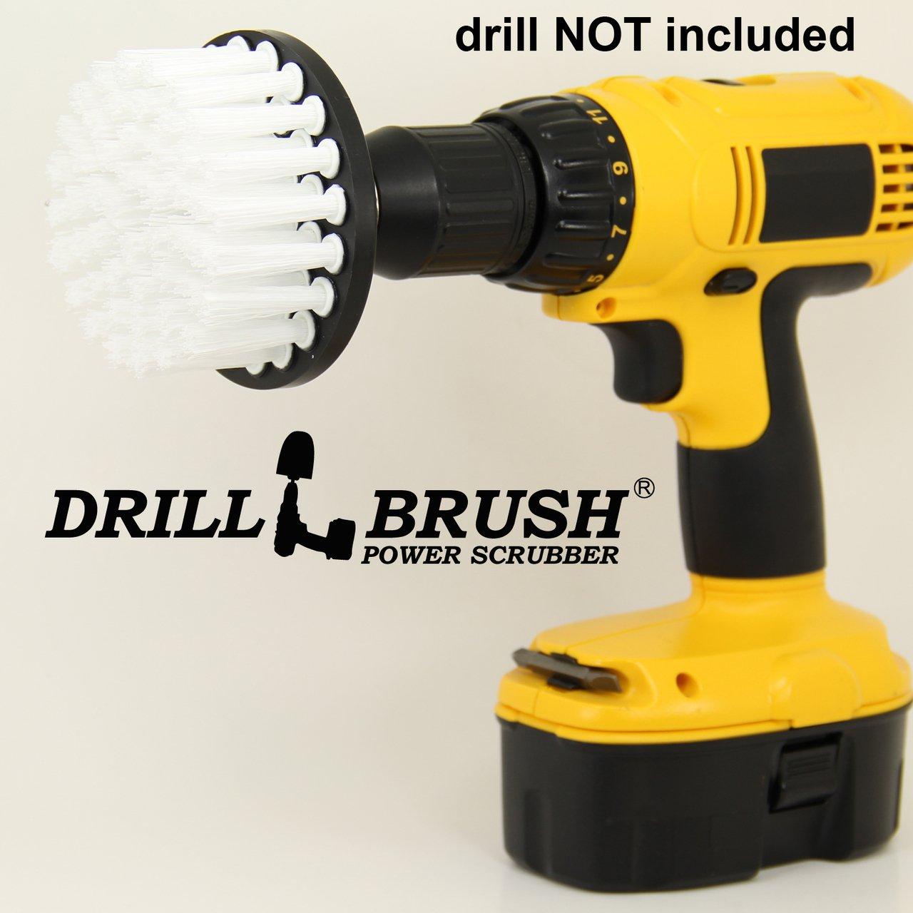 Drillbrush 4インチの長さ毛パワータイル、バスルームのスクラバー B00P854WUG